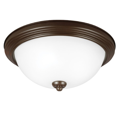 Sea Gull Lighting Sea Gull Lighting Ceiling Flush Mount Bell Metal Bronze LED Flushmount Light 77063S-827
