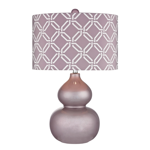 Dimond Lighting LED Table Lamp with Purple Shades in Lilac Luster Finish D2528-LED