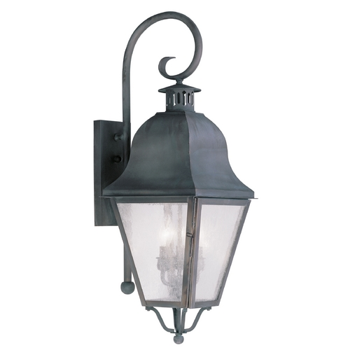 Livex Lighting Livex Lighting Amwell Charcoal Outdoor Wall Light 2555-61