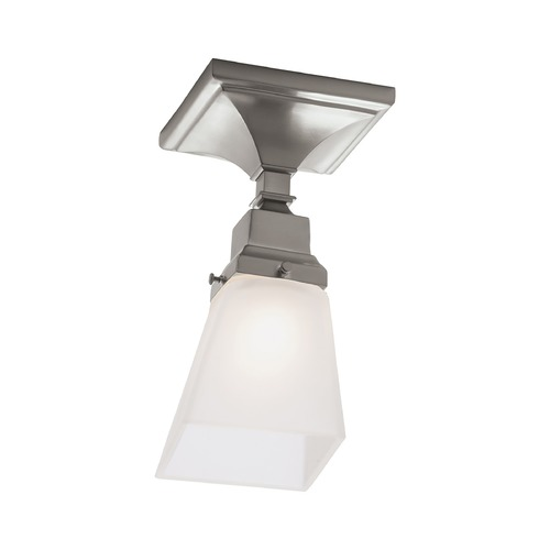 Norwell Lighting Norwell Lighting Birmingham Brush Nickel Semi-Flushmount Light 8121F-BN-SQ