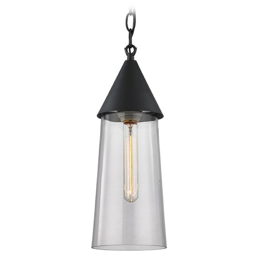 Elk Lighting Elk Lighting Bergen Oil Rubbed Bronze Mini-Pendant Light with Cylindrical Shade 46220/1