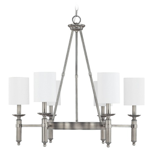 Capital Lighting Capital Lighting Covington Antique Nickel Chandelier 4046AN-489