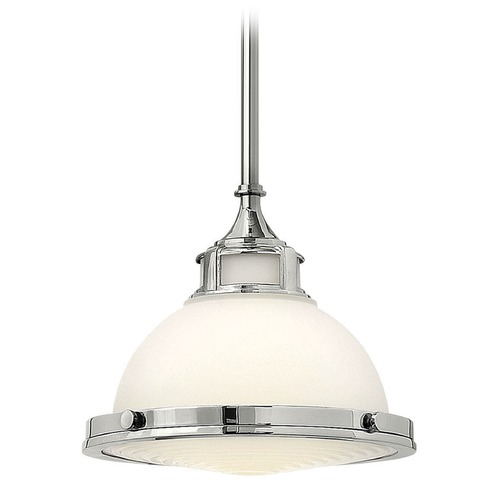 Hinkley Lighting Hinkley Lighting Amelia Chrome LED Mini-Pendant Light with Bowl / Dome Shade 3127CM-LED