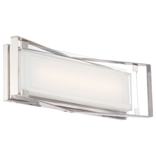 George Kovacs Lighting George Kovacs Crystal Clear Polished Nickel LED Bathroom Light P1183-613-L