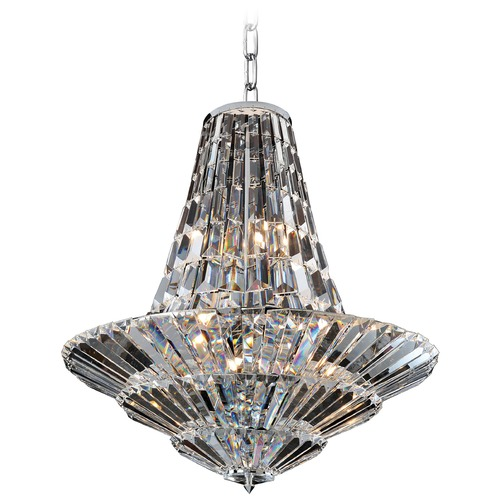 Allegri Lighting Art Deco Chandelier Chrome Auletta by Allegri Crystal 11425-010-FR001