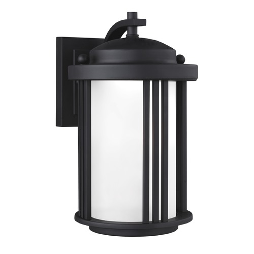 Sea Gull Lighting Sea Gull Crowell Black LED Outdoor Wall Light 8547991S-12