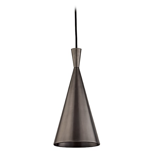 Hudson Valley Lighting Hudson Valley Lighting Ovid Old Bronze Mini-Pendant Light with Conical Shade 1920-OB
