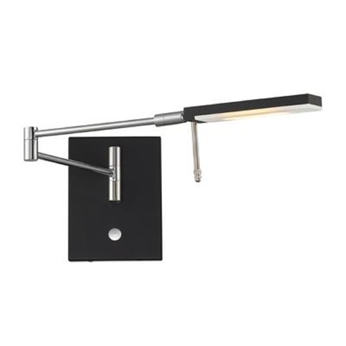 Lite Source Lighting Lite Source Liko Satin Black LED Swing Arm Lamp LS-16328