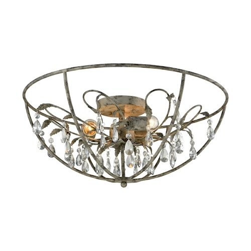 Elk Lighting Elk Lighting Bridget Marble Gray Semi-Flushmount Light 18212/3