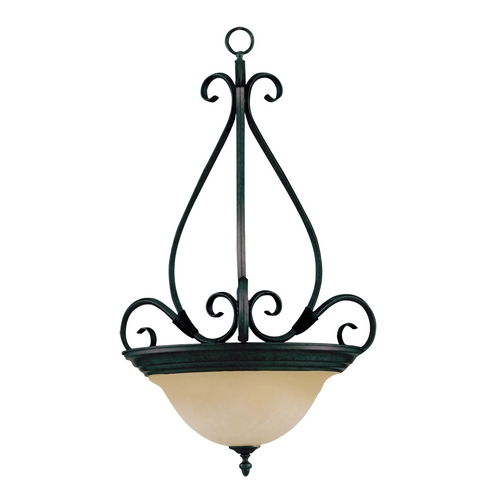 Maxim Lighting Maxim Lighting Pacific Kentucky Bronze Pendant Light with Bell Shade 2654WSKB