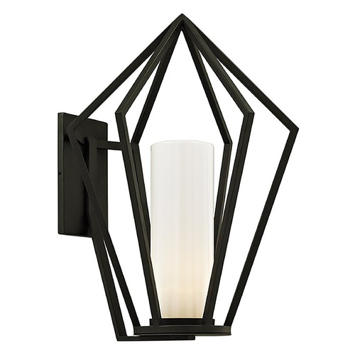 Troy Lighting Troy Lighting Whitley Heights Textured Black Outdoor Wall Light B6343