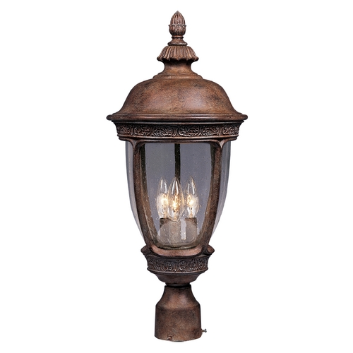 Maxim Lighting Post Light with Clear Glass in Sienna Finish 3461CDSE