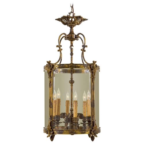 Metropolitan Lighting Pendant Light with Clear Glass in Antique Bronze Patina Finish N2338-OXB