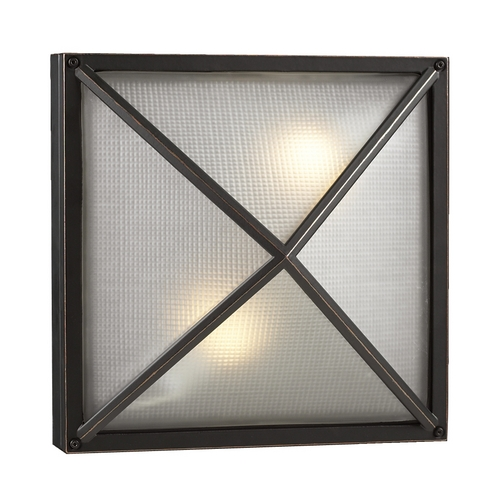 PLC Lighting Modern Outdoor Wall Light with White Glass in Bronze Finish 31700 BZ