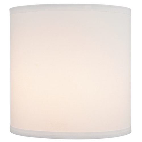 Design Classics Lighting White Linen Drum Lamp Shade with Spider Assembly - 10-1/2-Inches Tall JJ DCL SH7642