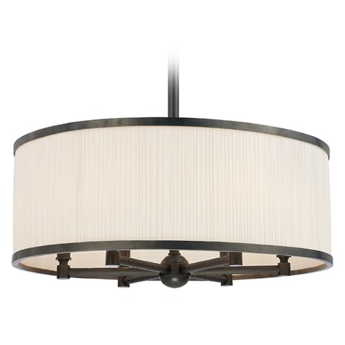 Hudson Valley Lighting Hastings 6 Light Pendant Light Drum Shade - Old Bronze 5224-OB