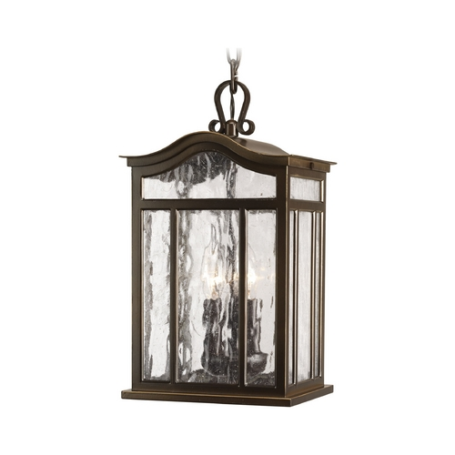 Progress Lighting Progress Oil Rubbed Bronze Outdoor Hanging Light with White Glass P5502-108