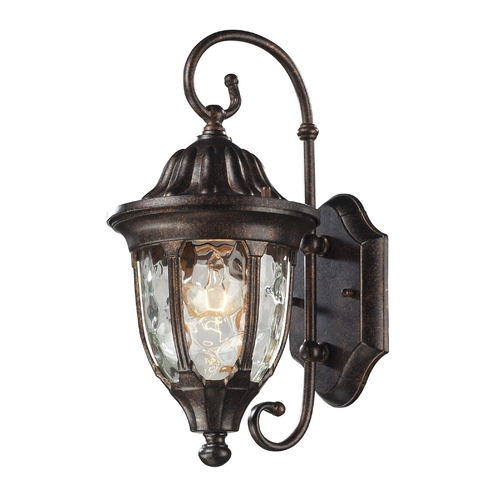 Elk Lighting Outdoor Wall Light with Clear Glass in Regal Bronze Finish 45002/1