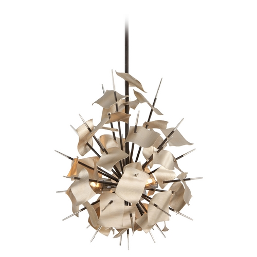 Corbett Lighting Corbett Lighting Poetry Tranquility Silver Leaf Pendant Light 175-43