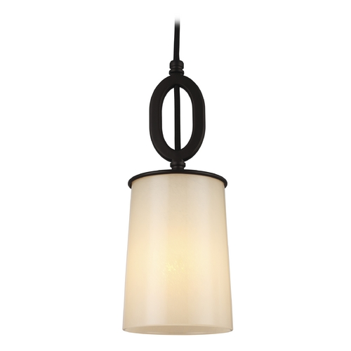 Feiss Lighting Feiss Lighting Huntley Oil Rubbed Bronze Mini-Pendant Light with Cylindrical Shade P1290ORB