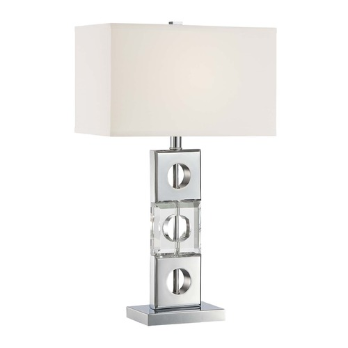 Lite Source Lighting Lite Source Brentley Chrome Table Lamp with Rectangle Shade LS-22440