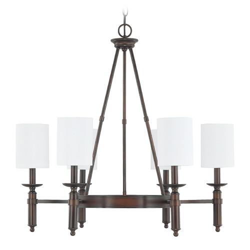 Capital Lighting Capital Lighting Covington Burnished Bronze Chandelier 4046BB-489