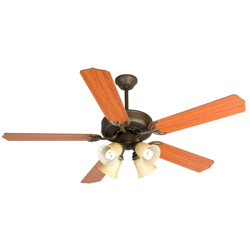 Craftmade Lighting Craftmade Pro Builder 204 Aged Bronze Textured Ceiling Fan with Light K10634