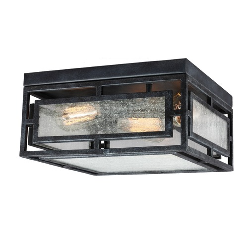 Feiss Lighting Feiss Lighting Prairielands Dark Weathered Zinc Flushmount Light FM448DWZ