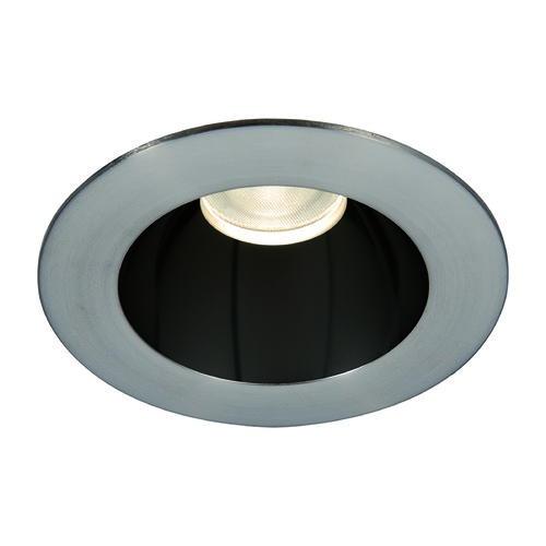 WAC Lighting WAC Lighting Round Black Brushed Nickel 3.5-Inch LED Recessed Trim 3500K 1280LM 55 Degree HR3LEDT118PF835BBN