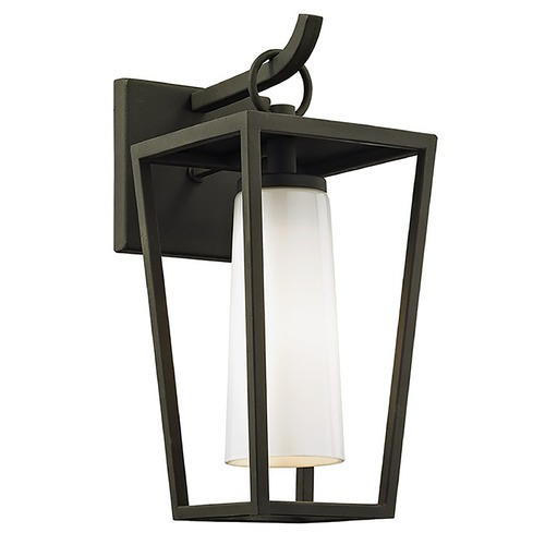 Troy Lighting Troy Lighting Mission Beach Textured Black Outdoor Wall Light B6351