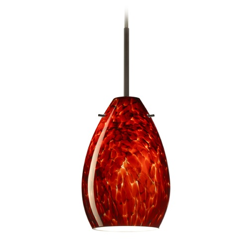 Besa Lighting Besa Lighting Pera Bronze Mini-Pendant Light with Oval Shade 1BT-171341-BR