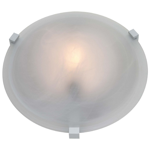 Access Lighting Modern Flushmount Light with White Glass in White Finish 50060-WH/FST