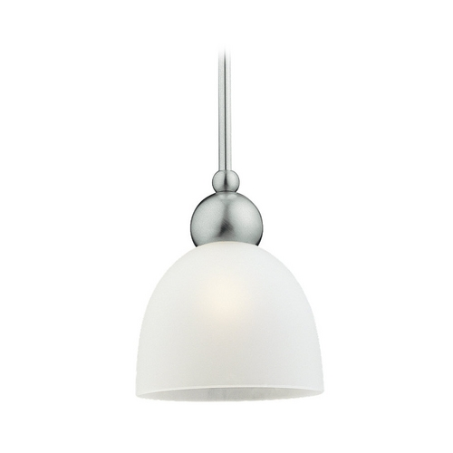 Sea Gull Lighting Modern Mini-Pendant Light with White Glass 61035-962