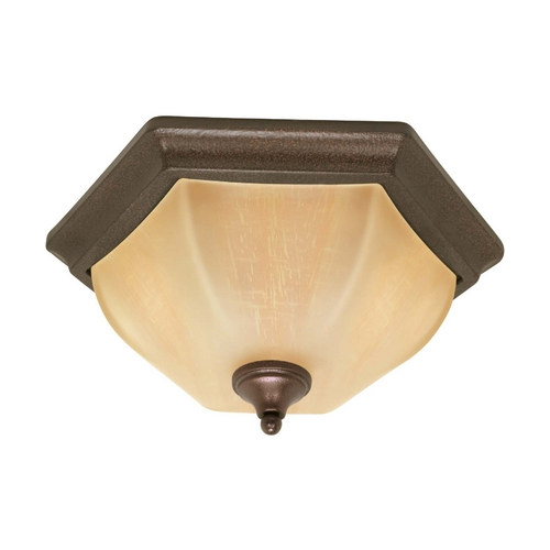 Nuvo Lighting Flushmount Light with Beige / Cream Glass in Copper Bronze Finish 60/056