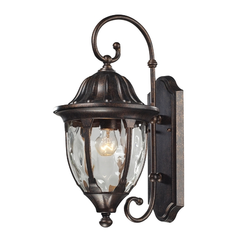 Elk Lighting Outdoor Wall Light with Clear Glass in Regal Bronze Finish 45003/1