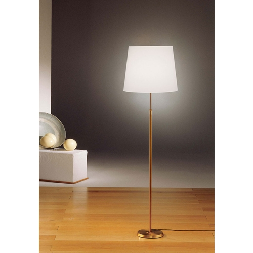 Holtkoetter Lighting Holtkoetter Modern Floor Lamp with White Shade in Antique Brass Finish 6354 AB SWRG