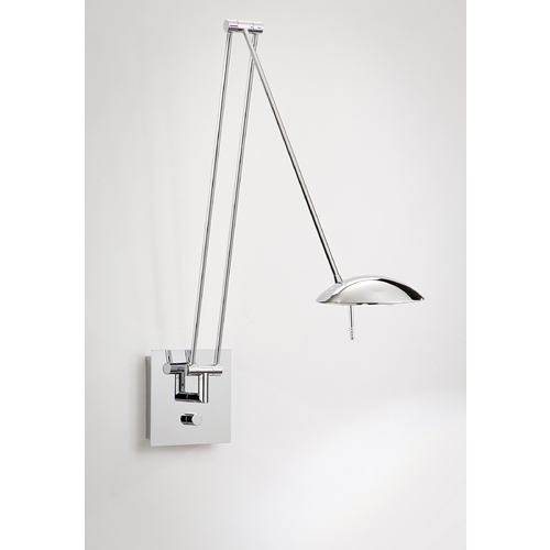 Holtkoetter Lighting Holtkoetter Modern Swing Arm Lamp in Chrome Finish 8195 CH
