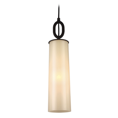 Feiss Lighting Feiss Lighting Huntley Oil Rubbed Bronze Mini-Pendant Light with Cylindrical Shade P1291ORB