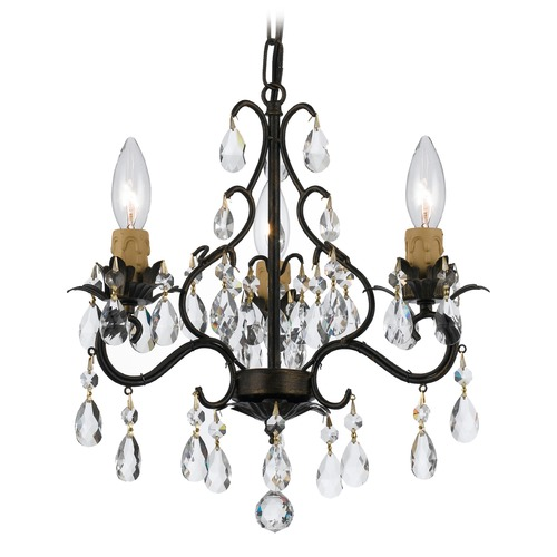 Crystorama Lighting Crystorama Lighting Paris Market English Bronze Crystal Chandelier 4534-EB