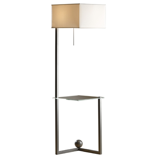 Hubbardton Forge Lighting Hubbardton Forge Lighting Balance Burnished Steel Floor Lamp with Square Shade 244101-08-872