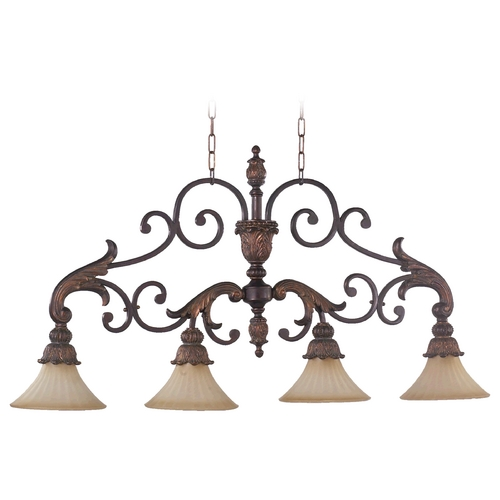 Quorum Lighting Quorum Lighting Madeleine Corsican Gold Island Light with Bell Shade 6330-4-88