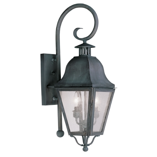 Livex Lighting Livex Lighting Amwell Charcoal Outdoor Wall Light 2551-61