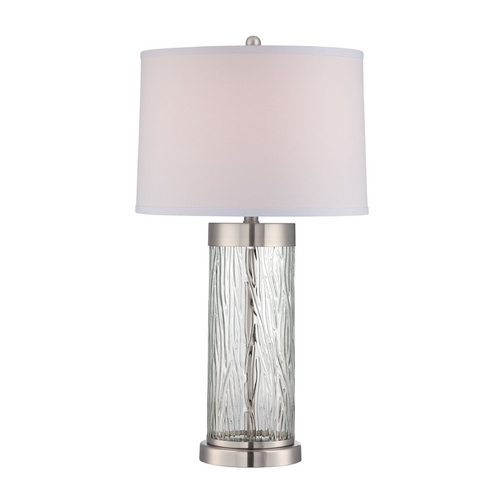 Lite Source Lighting Lite Source Lighting Enrico Polished Steel Table Lamp with Drum Shade LS-22446