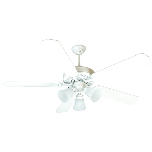 Craftmade Lighting Craftmade Pro Builder 205 White Ceiling Fan with Light K10638