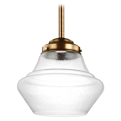 Feiss Lighting Feiss Lighting Alcott Aged Brass LED Pendant Light P1409AGB-LED