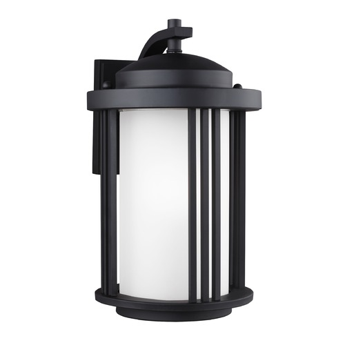 Sea Gull Lighting Sea Gull Crowell Black Outdoor Wall Light 8747901-12