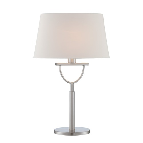 Lite Source Lighting Lite Source Satin Chrome Table Lamp with Oval Shade LS-22730