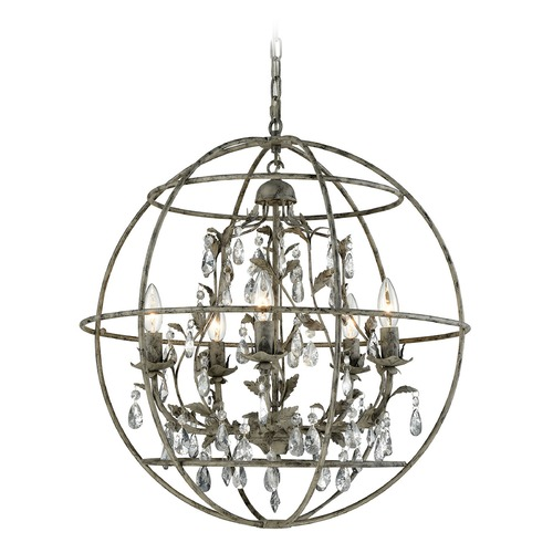 Elk Lighting Elk Lighting Bridget Marble Gray Chandelier 18214/5