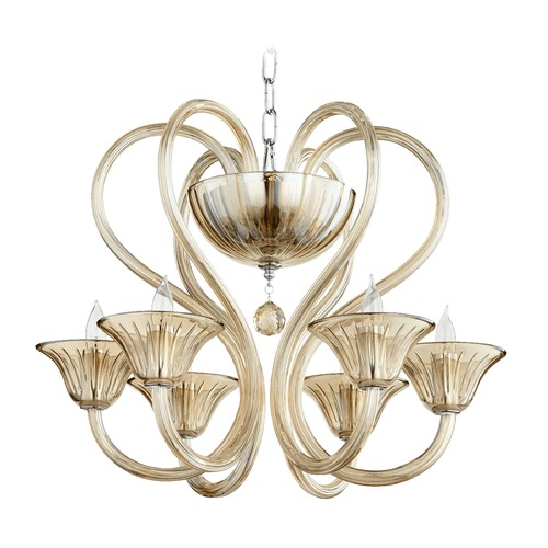 Quorum Lighting Quorum Lighting Vivaldi Chrome W/ Cognac Chandelier 609-6-614