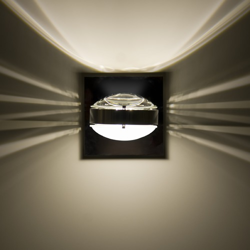 Besa Lighting Besa Lighting Optos Chrome Sconce OPTOS1W-CLFR-CR